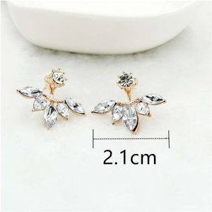 fancy fashions Jewelry - Crystal Earrings with gold jacket